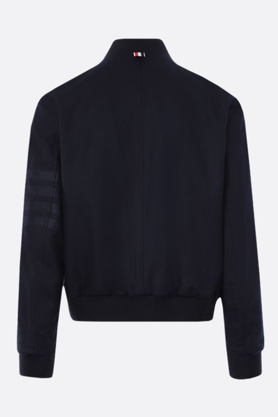 THOM BROWNE: wool flannel bomber jacket Color Blue_2