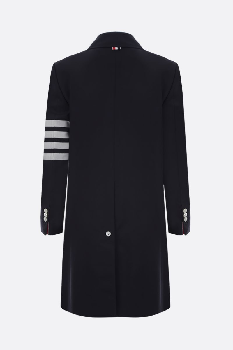THOM BROWNE: wool single-breasted overcoat Color Blue_2