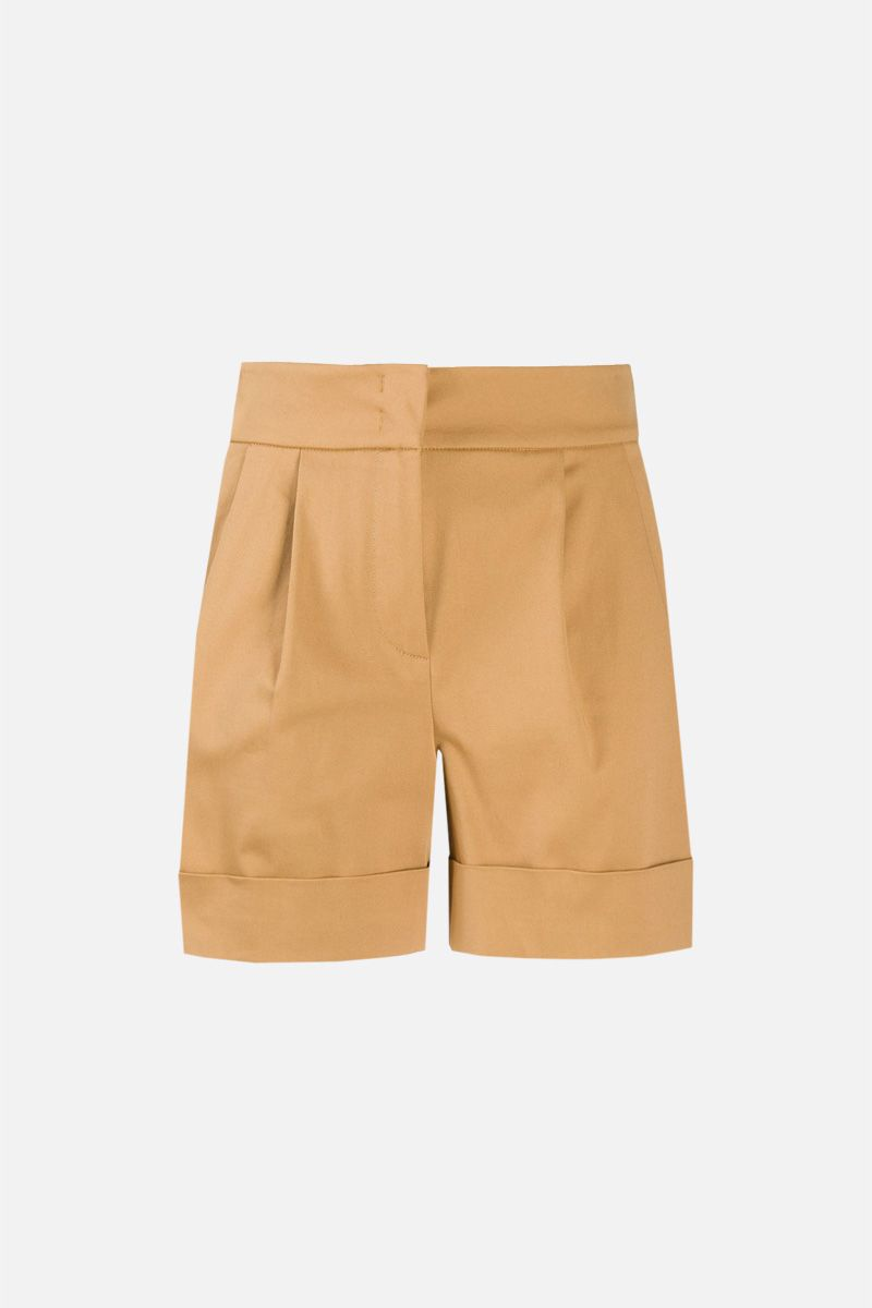 ALBERTA FERRETTI: stretch cotton darted shorts Color Neutral_1