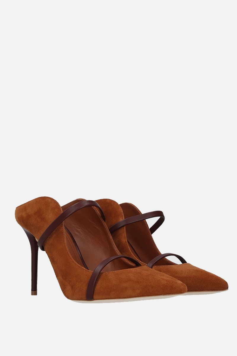 MALONE SOULIERS: Maureen suede mules Color Neutral_2