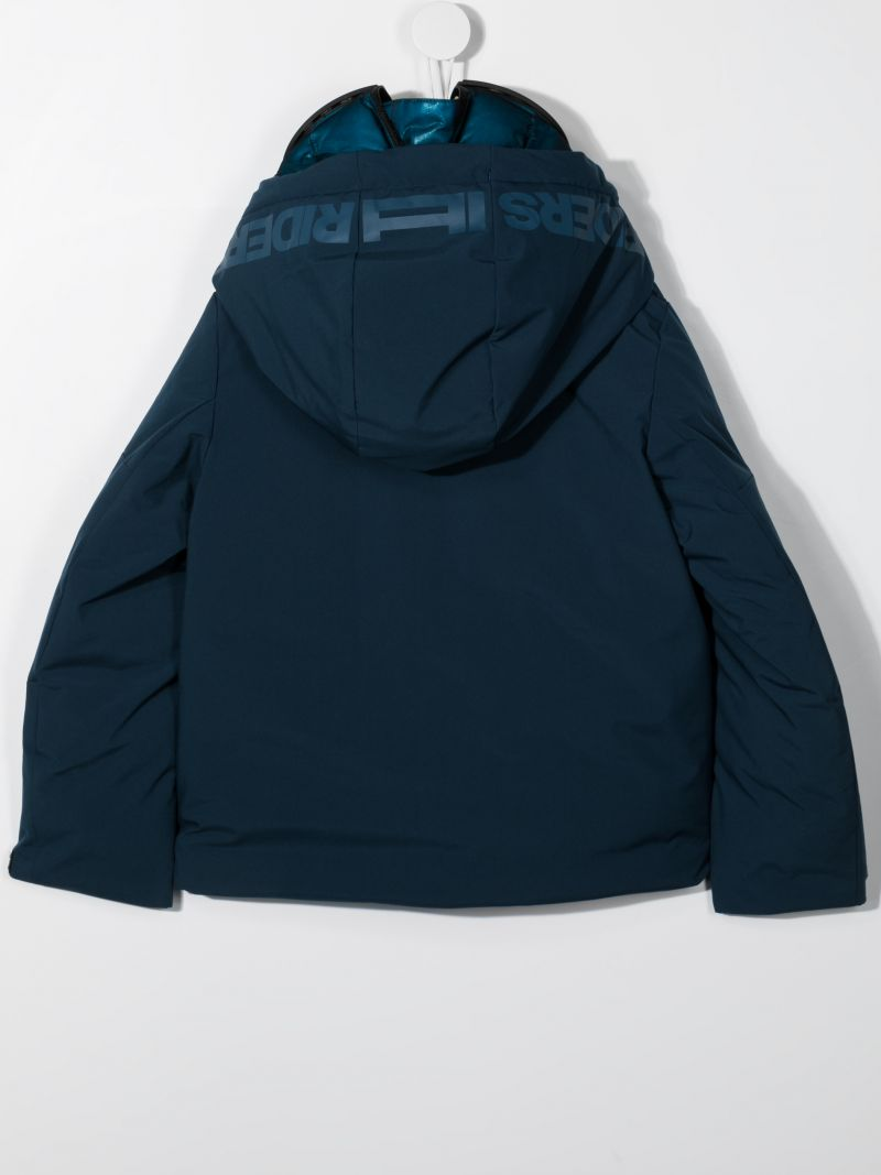 AI RIDERS ON THE STORM KIDS: nylon padded jacket Color Blue_2