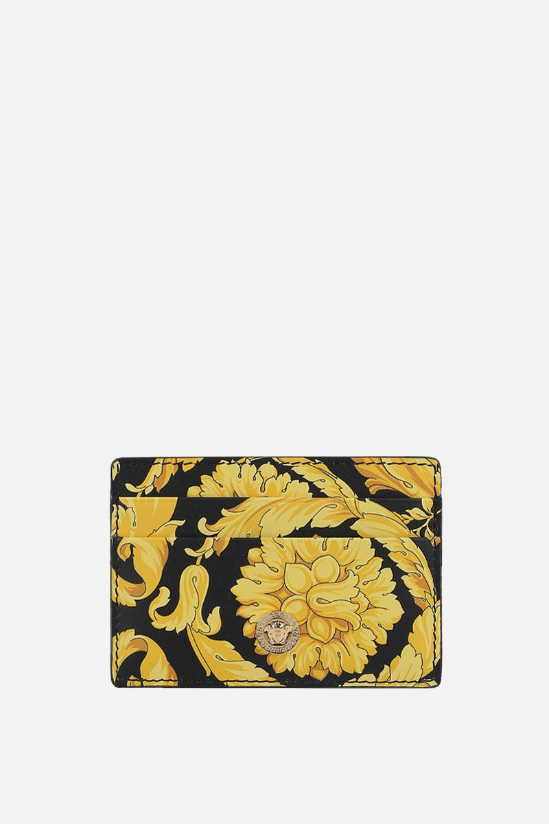 VERSACE: Barocco print smooth leather card case_1