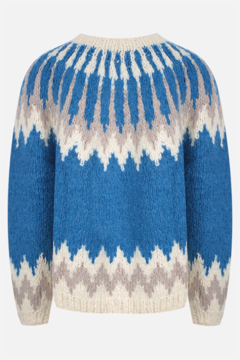 ANDERSSON BELL: pullover Nordic in misto lana Colore Blue_2
