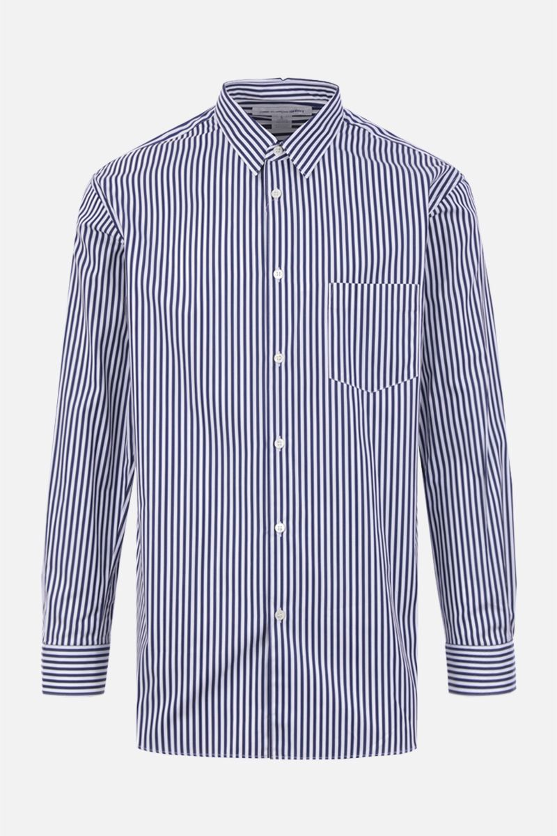 COMME des GARCONS SHIRT: camicia regular-fit in popeline a righe Colore Rosa_1