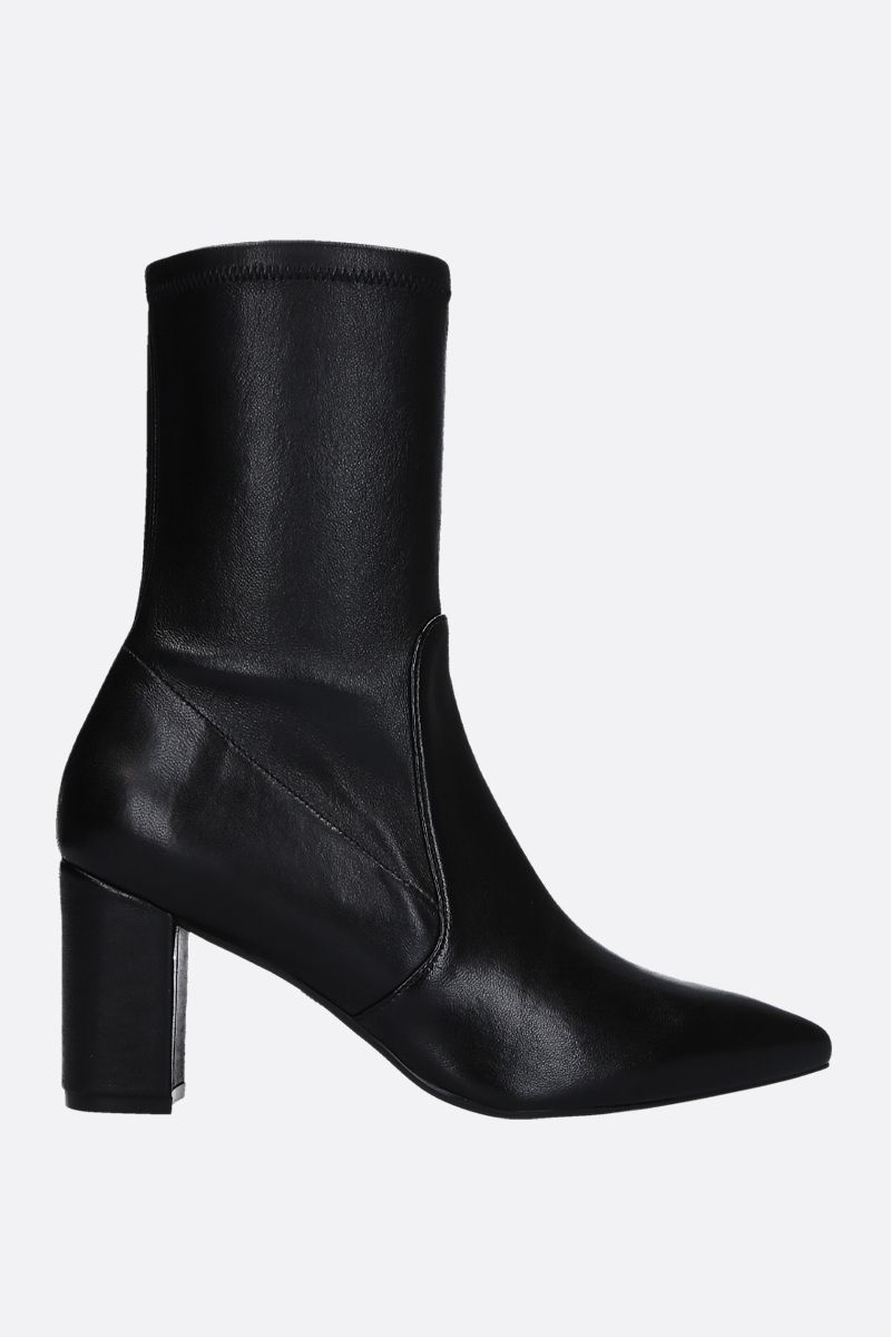 STUART WEITZMAN: Landry ankle boots in soft nappa Color Black_1