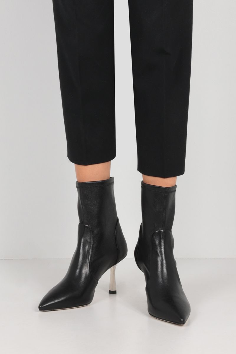 STUART WEITZMAN: Max stretch nappa ankle boots Color Black_2