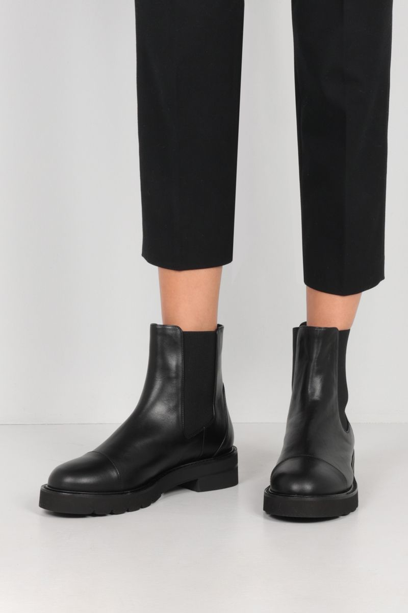 STUART WEITZMAN: Frankie Lift smooth leather chelsea boots Color Black_2