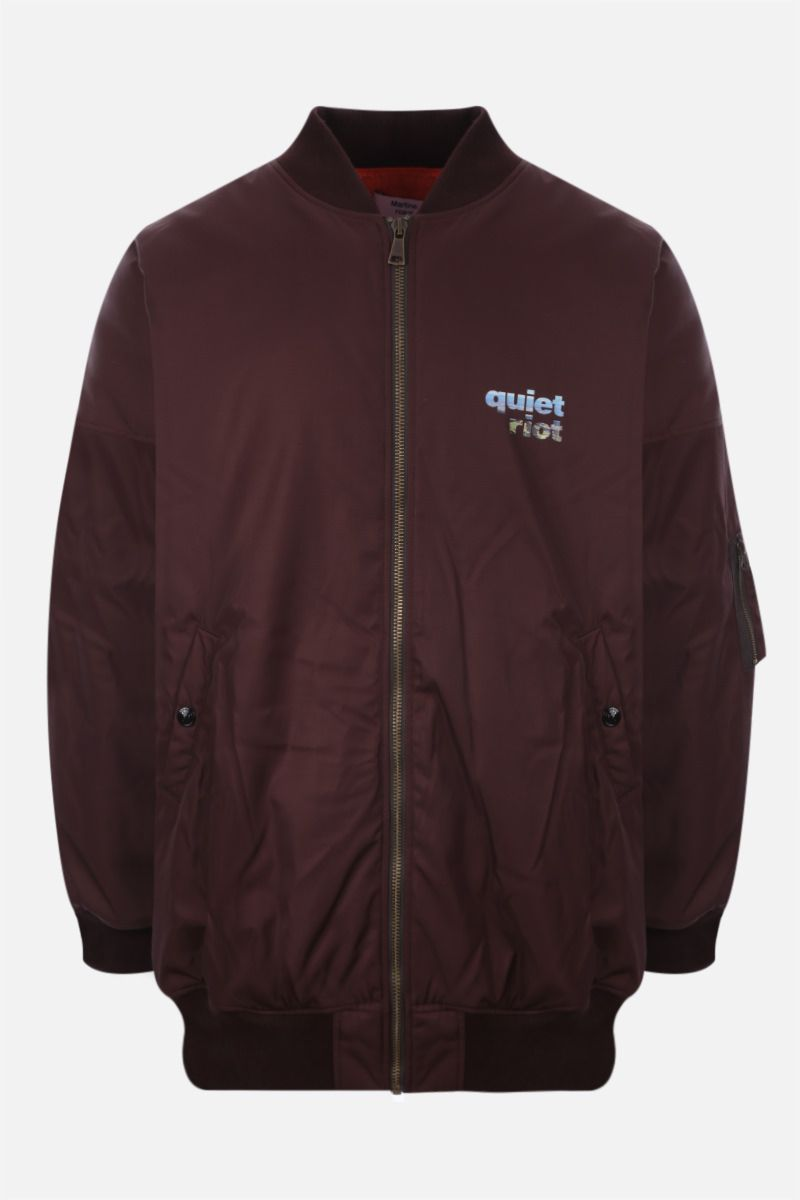 MARTINE ROSE: Quiet Riot oversize technical cotton bomber jacket Color Red_1