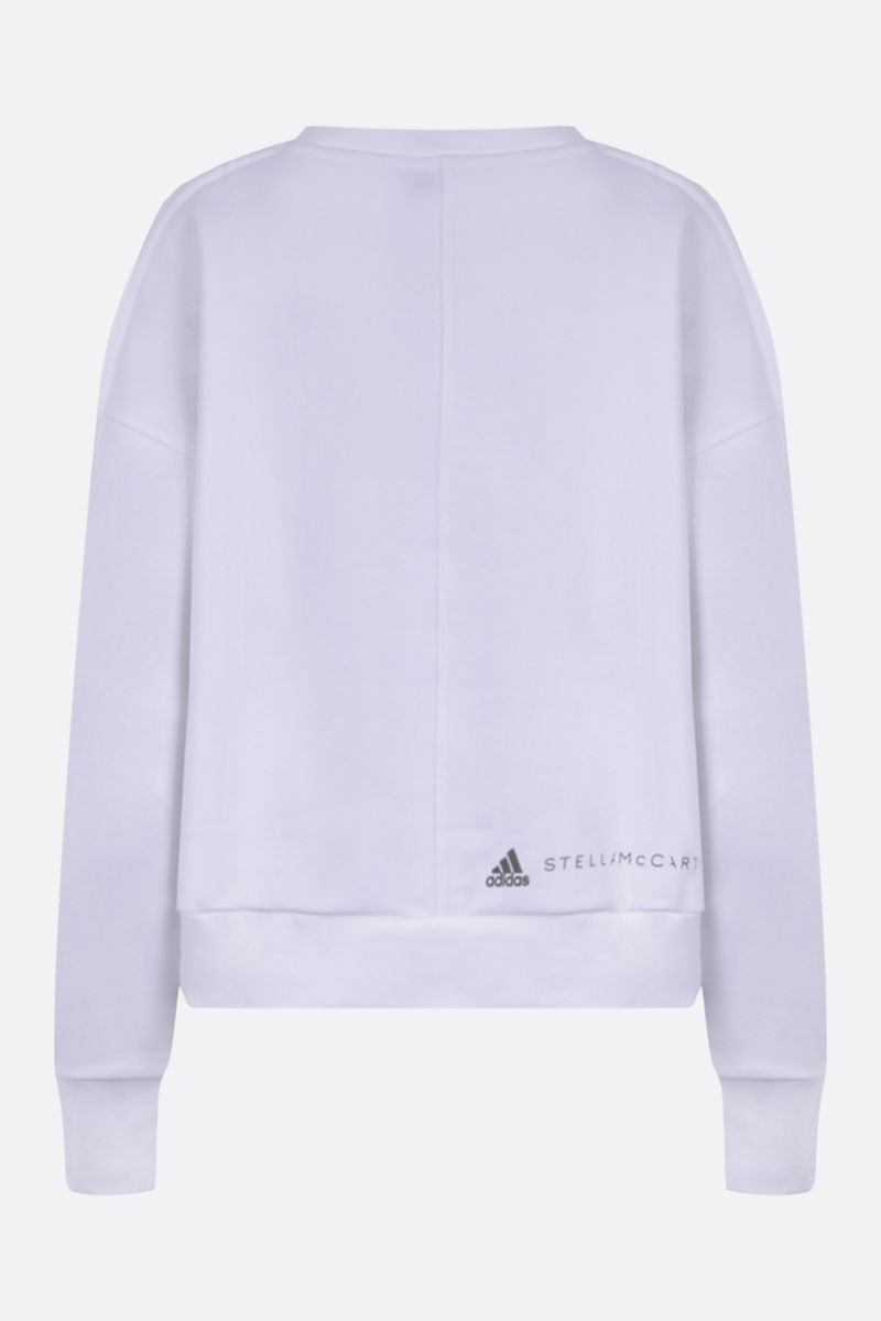 ADIDAS BY STELLA McCARTNEY: felpa cropped adidas by Stella McCartney in misto cotone Colore Bianco_2