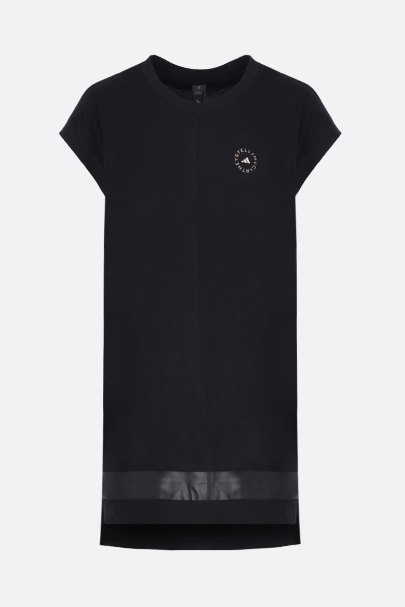 ADIDAS BY STELLA McCARTNEY: t-shirt smanicata oversize Muscle in cotone Colore Nero_1