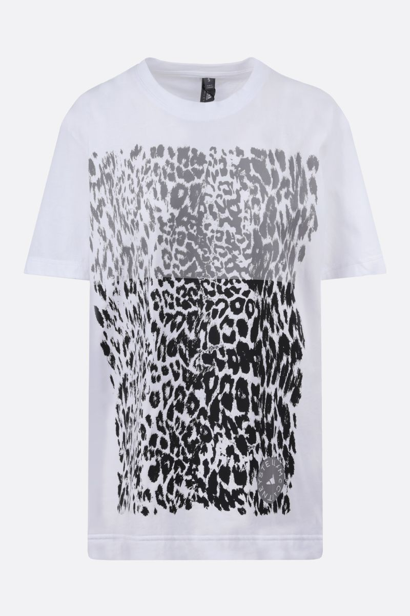 ADIDAS BY STELLA McCARTNEY: Graphic oversize cotton t-shirt Color White_1