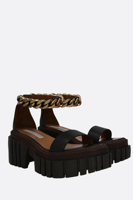 STELLA McCARTNEY: Emilie platform sandals in matte Alter Mat Color Black_2