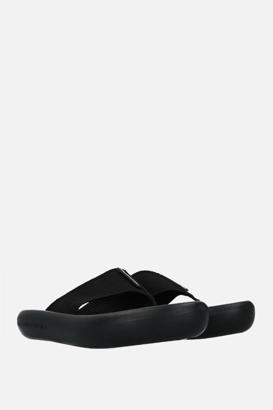 STELLA McCARTNEY: sandalo slide Air in gros grain Colore Nero_2