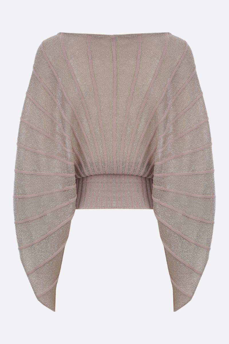 STELLA McCARTNEY: lurex knit cape-style top Color Multicolor_2