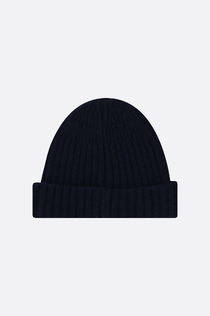 ROBERTO COLLINA: rib knit wool beanie Color Blue_2