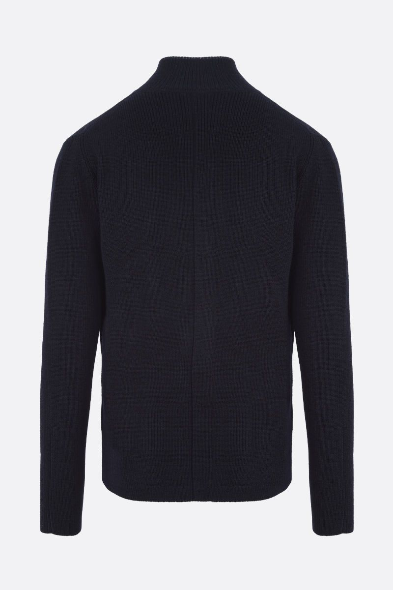 ROBERTO COLLINA: merino wool cardigan Color Blue_2