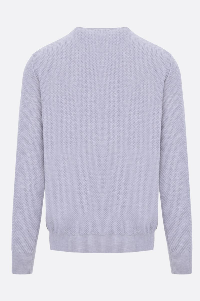 ROBERTO COLLINA: textured-knit cotton pullover Color Grey_2