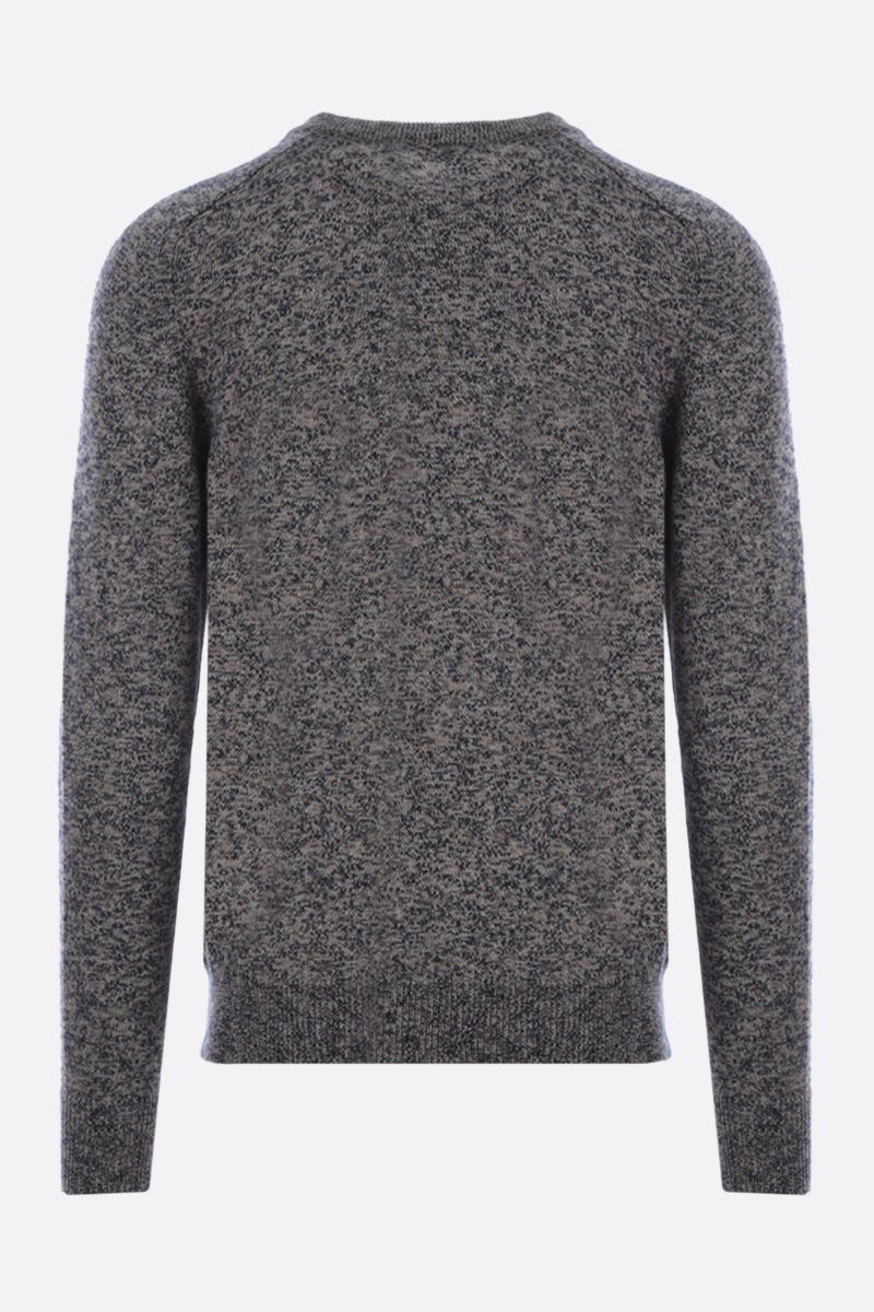 ROBERTO COLLINA: melange cotton blend pullover Color Multicolor_2