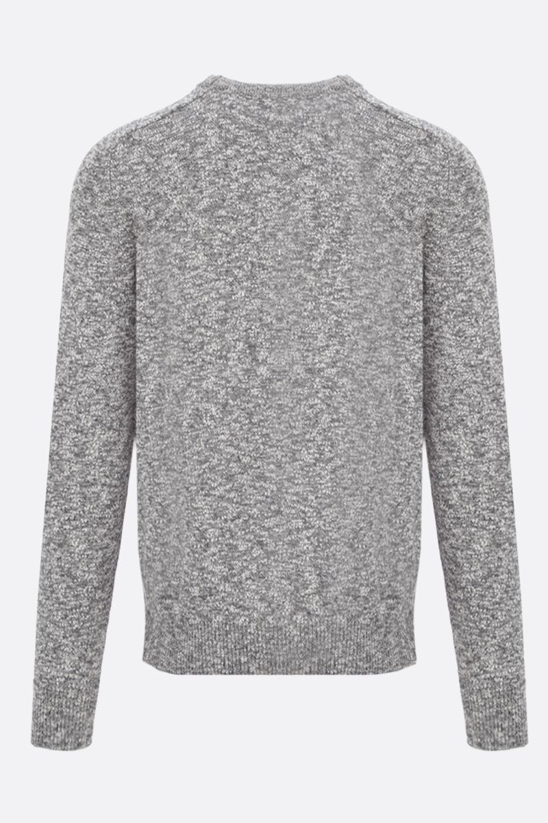 ROBERTO COLLINA: melange cotton blend pullover Color Neutral_2