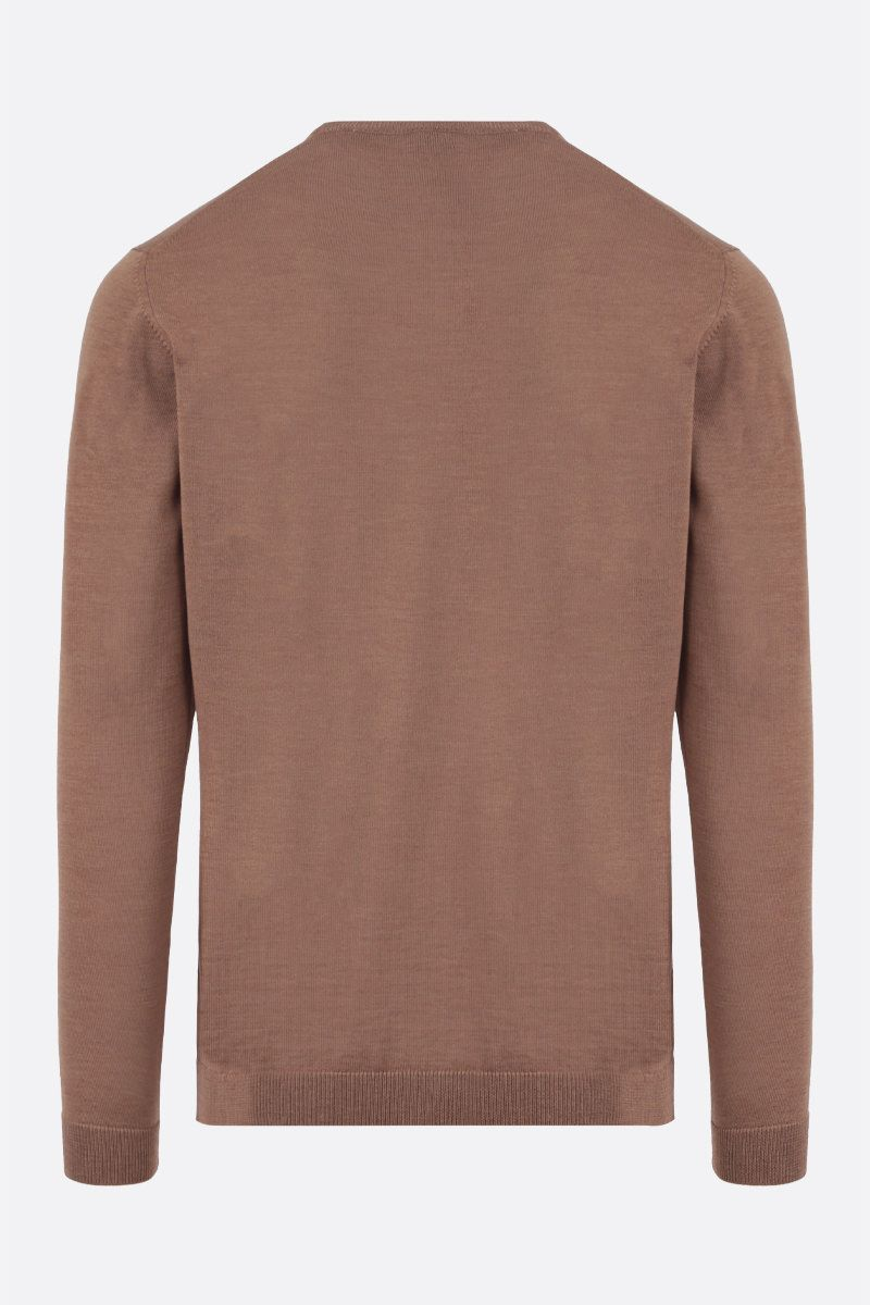 ROBERTO COLLINA: combed wool pullover Color Neutral_2