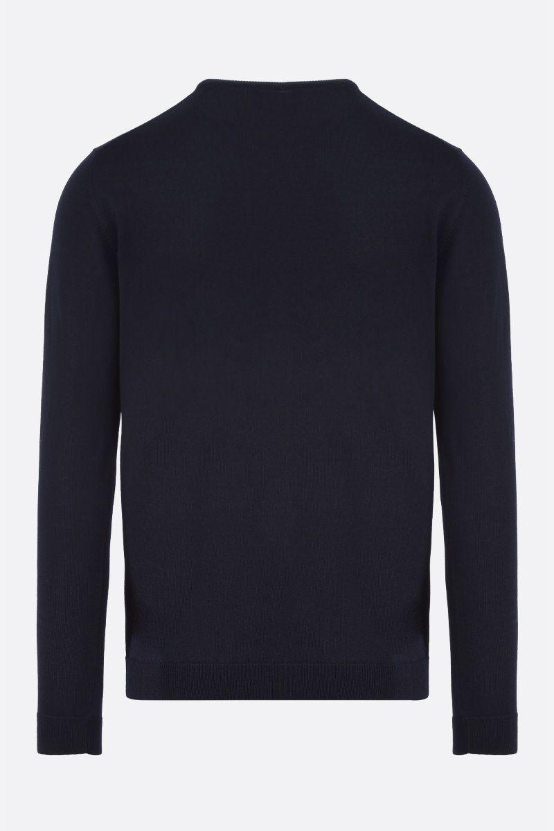 ROBERTO COLLINA: combed wool pullover Color Blue_2