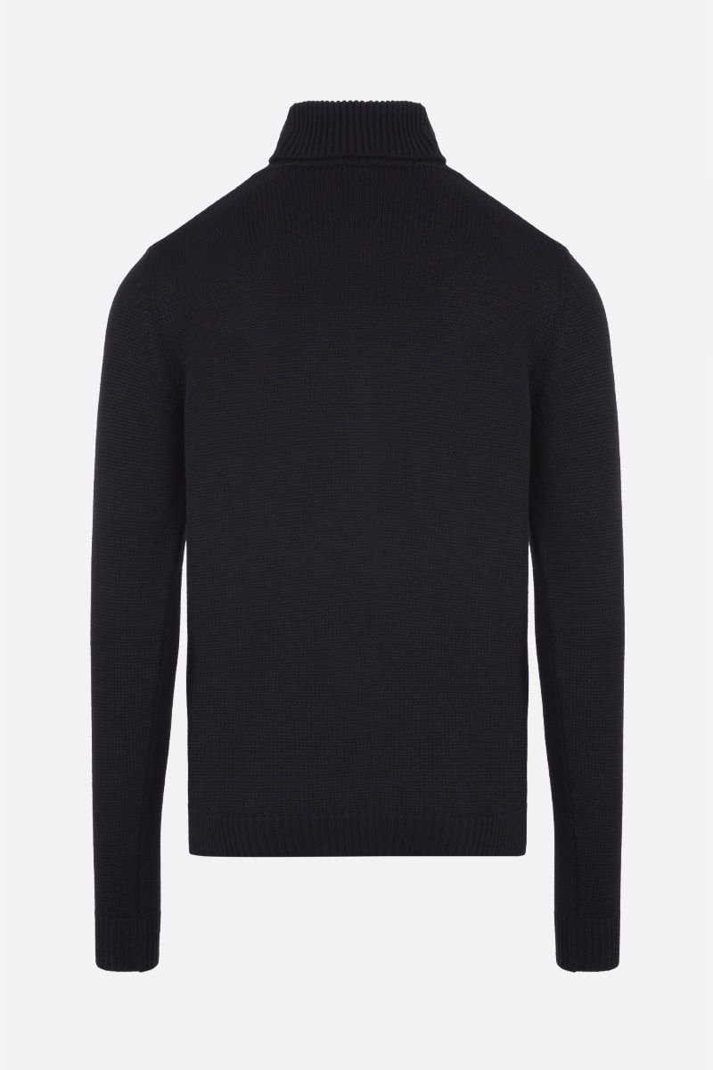 ROBERTO COLLINA: merino wool turtleneck Color Black_2