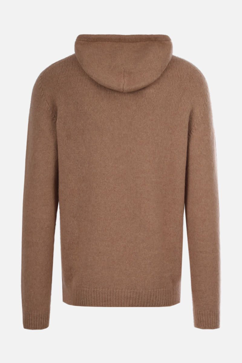 ROBERTO COLLINA: wool blend hooded pullover Color Neutral_2