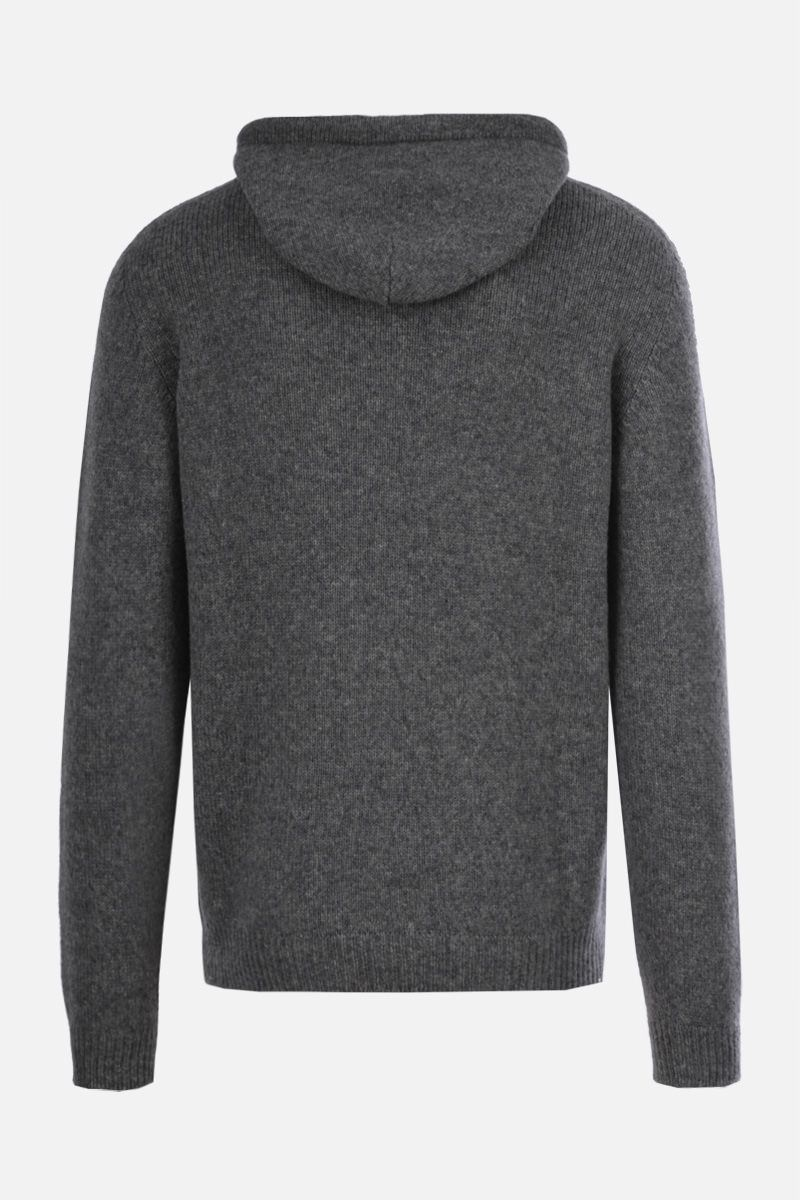ROBERTO COLLINA: wool blend hooded pullover Color Grey_2