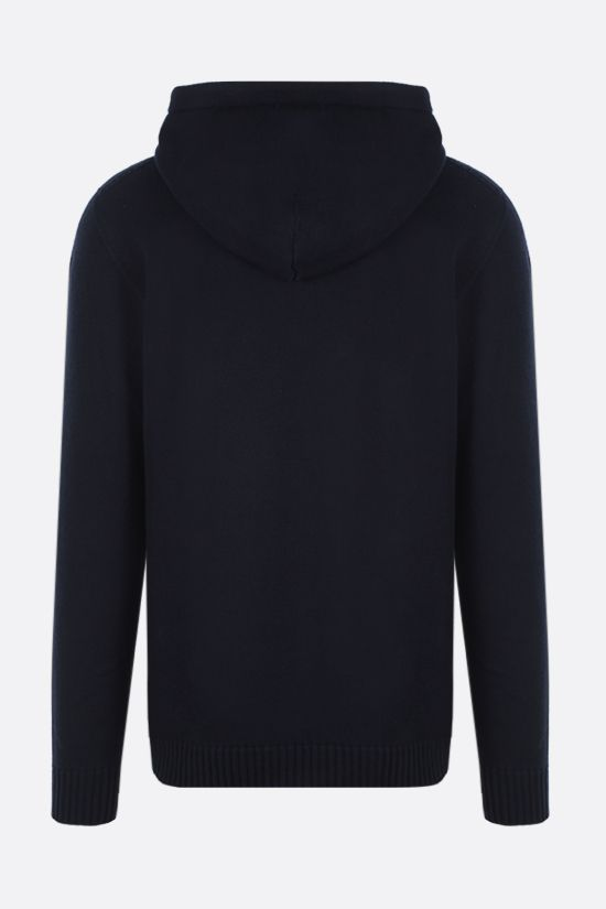 ROBERTO COLLINA: hooded organic cotton pullover Color Blue_2