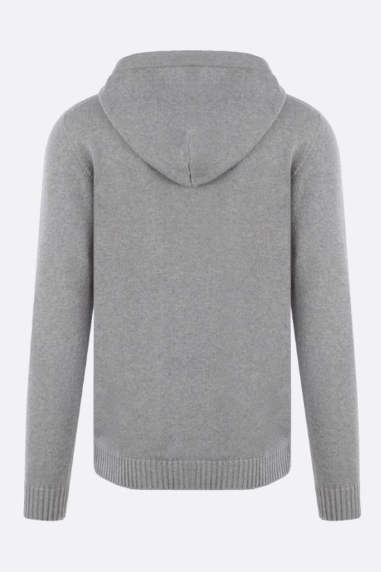 ROBERTO COLLINA: hooded organic cotton pullover Color Grey_2