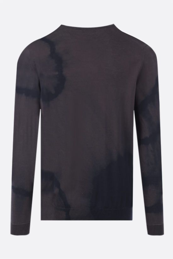 ROBERTO COLLINA: tie-dye cotton pullover Color Brown_2