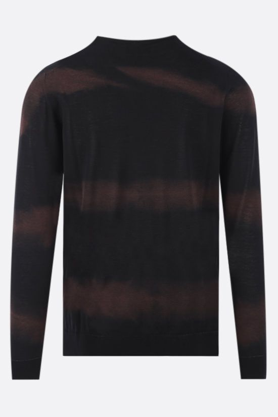 ROBERTO COLLINA: tie-dye cotton pullover Color Black_2