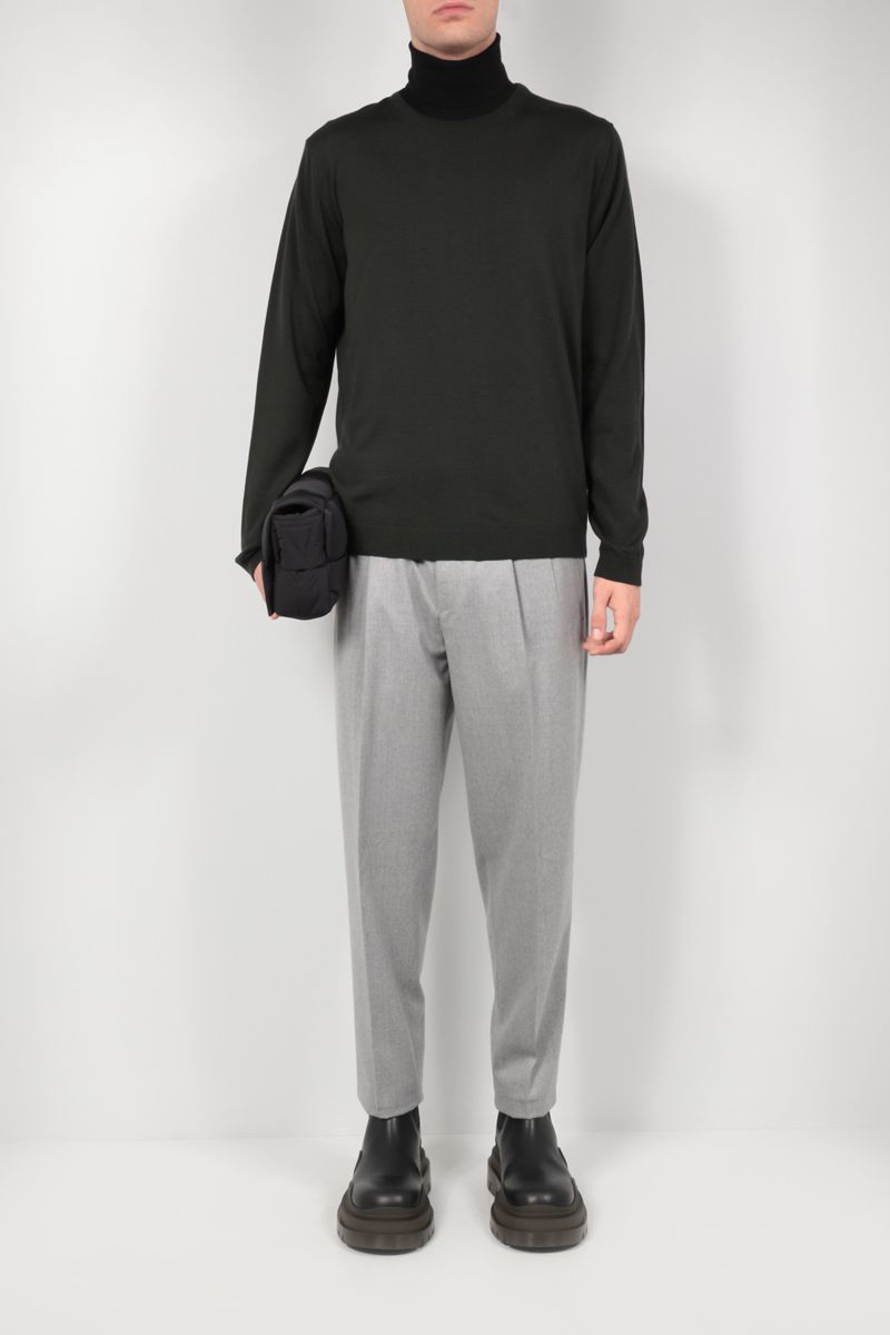 ROBERTO COLLINA: wool pullover Color Green_2