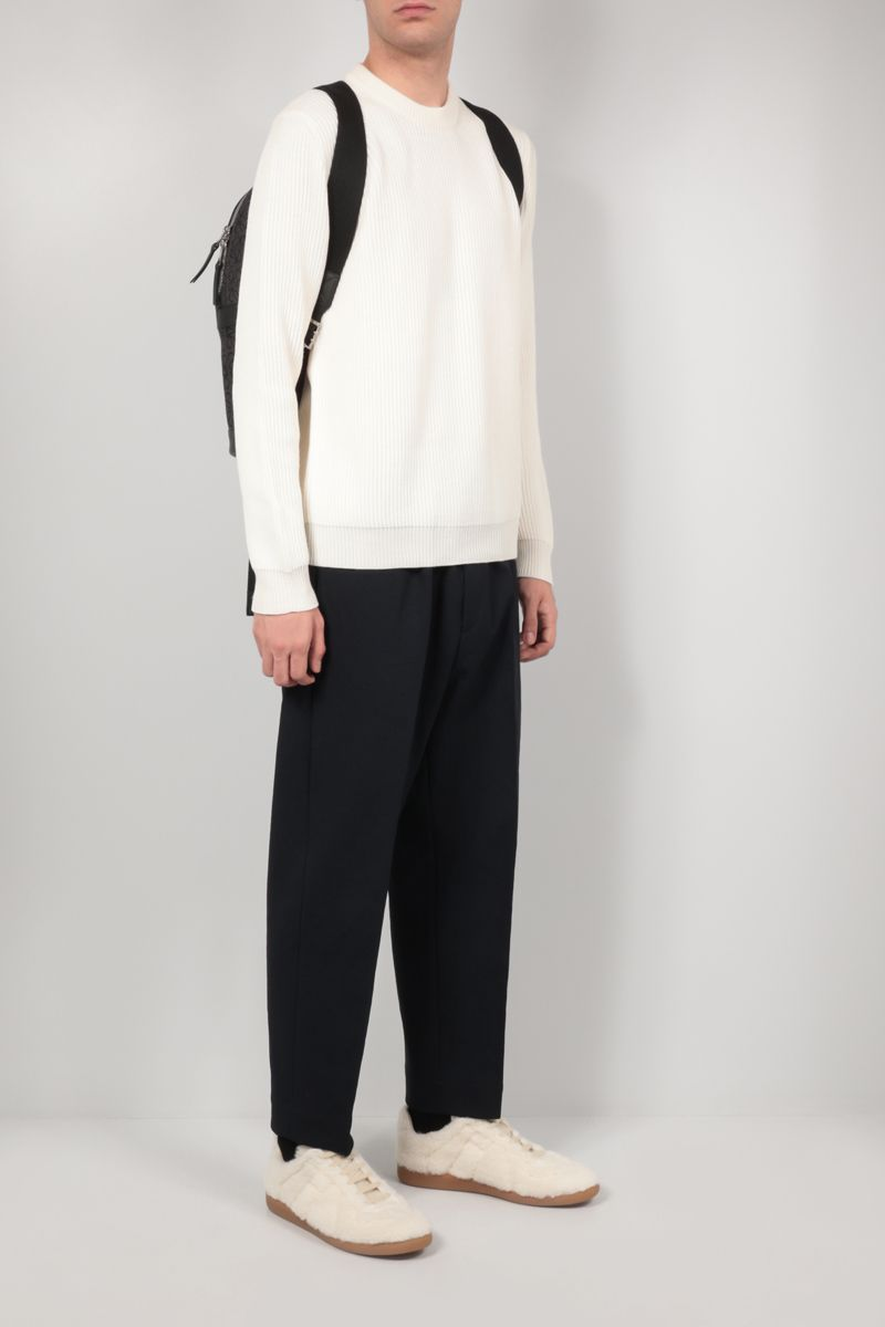 ROBERTO COLLINA: ribbed wool pullover Color Neutral_2