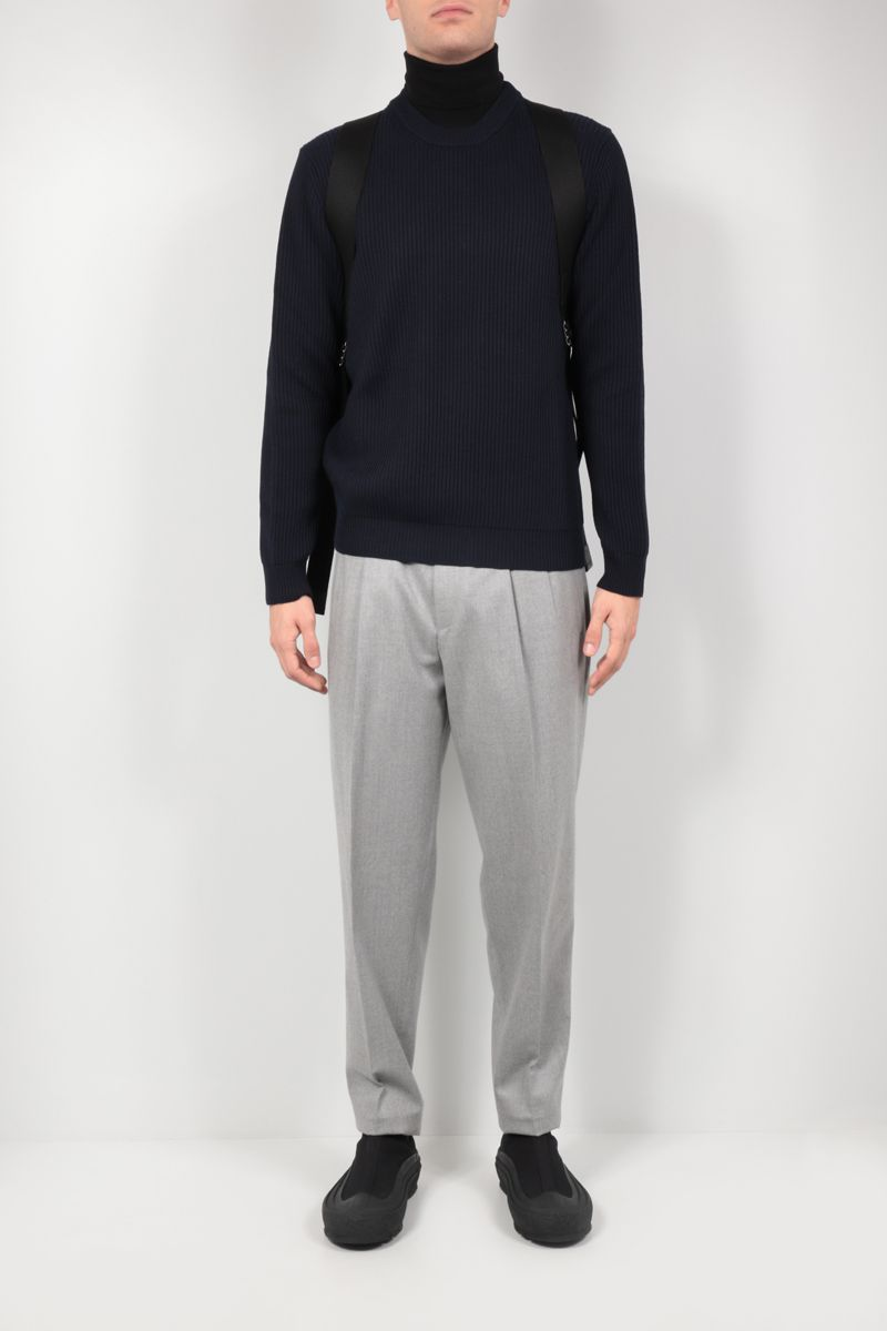 ROBERTO COLLINA: ribbed wool pullover Color Blue_2