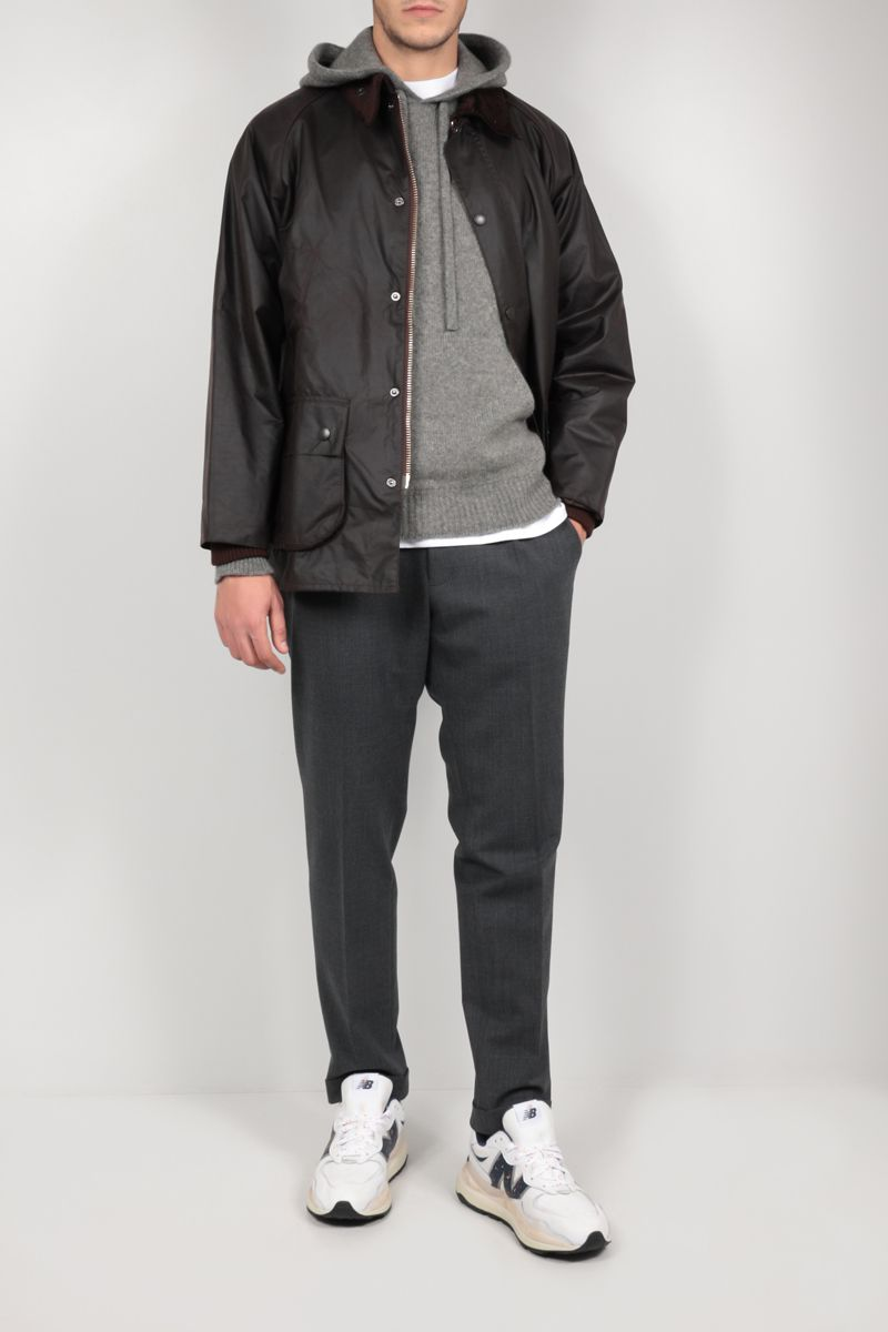 ROBERTO COLLINA: hooded wool blend pullover Color Grey_2