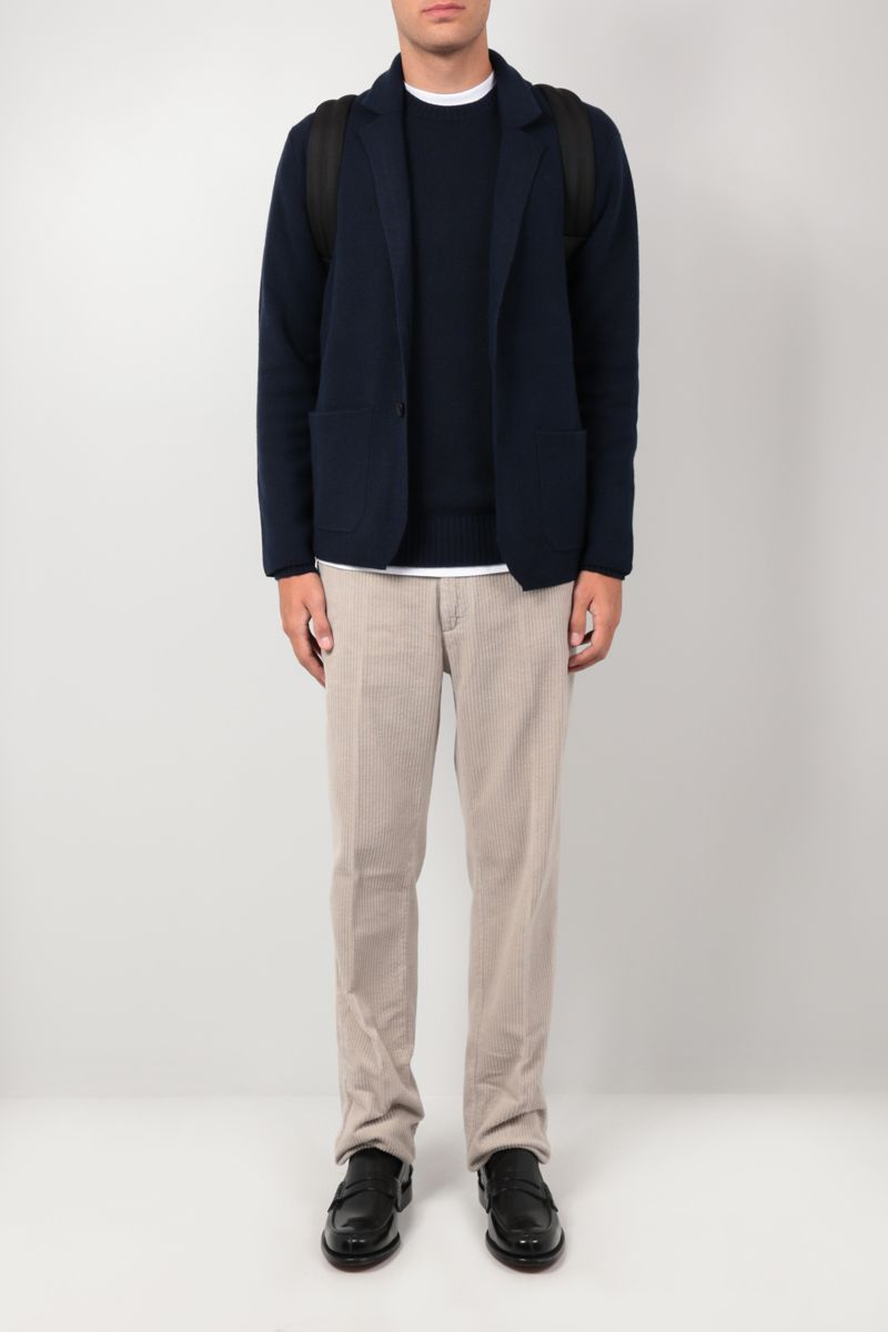 ROBERTO COLLINA: cashmere wool blend pullover Color Blue_2