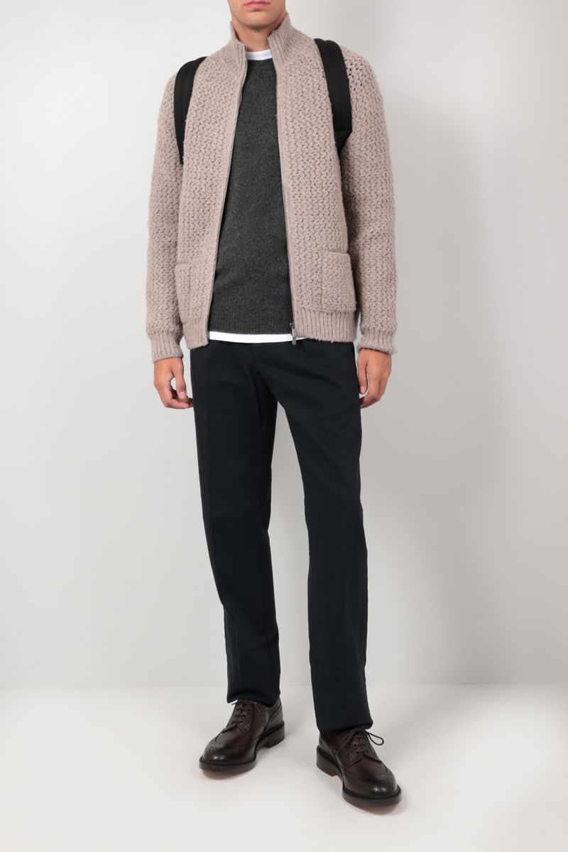 ROBERTO COLLINA: camel wool blend pullover Color Grey_2