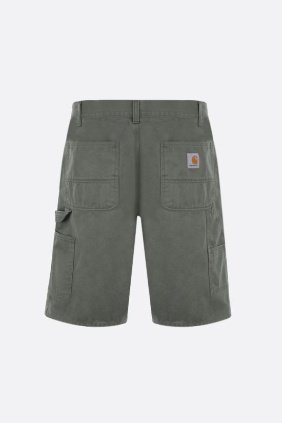 CARHARTT WIP: Ruck Single Knee cotton shorts Color Green_2