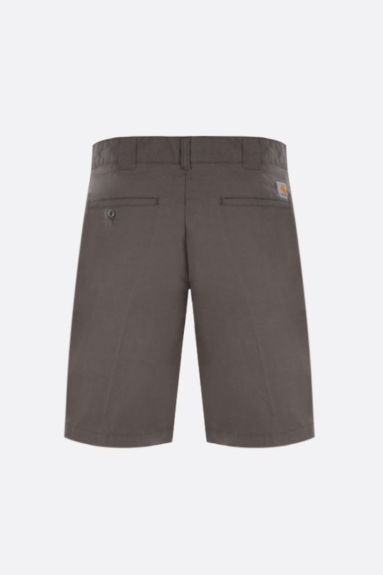 CARHARTT WIP: Master stretch cotton shorts Color Green_2