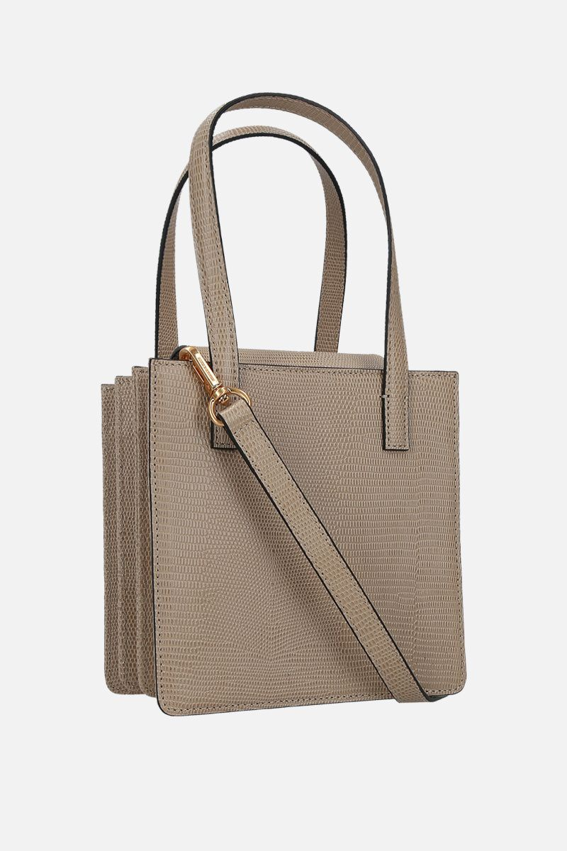 MARGESHERWOOD: Grandma lizard-embossed leather handbag Color Neutral_2