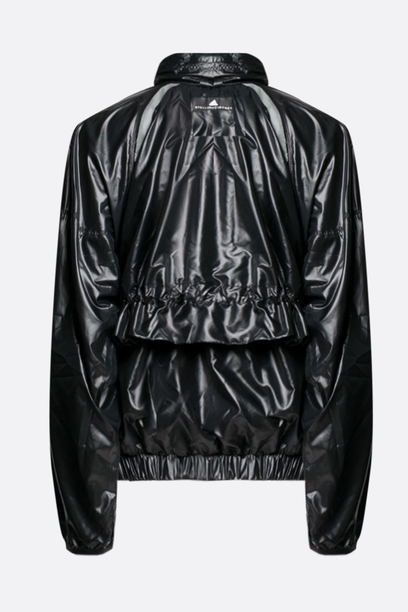 ADIDAS BY STELLA McCARTNEY: Light shiny nylon windbreaker Color Black_2