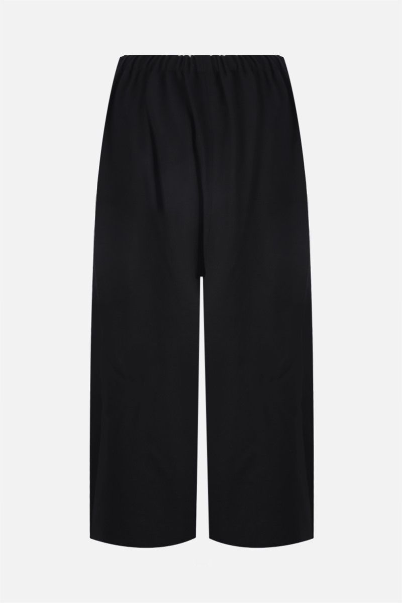 COMME des GARCONS COMME des GARCONS: pantalone cropped a gamba ampia in lana Colore Black_2