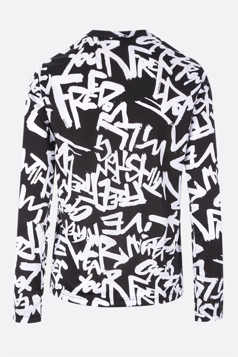 COMME des GARCONS: top in jersey con stampa Colore Black_2