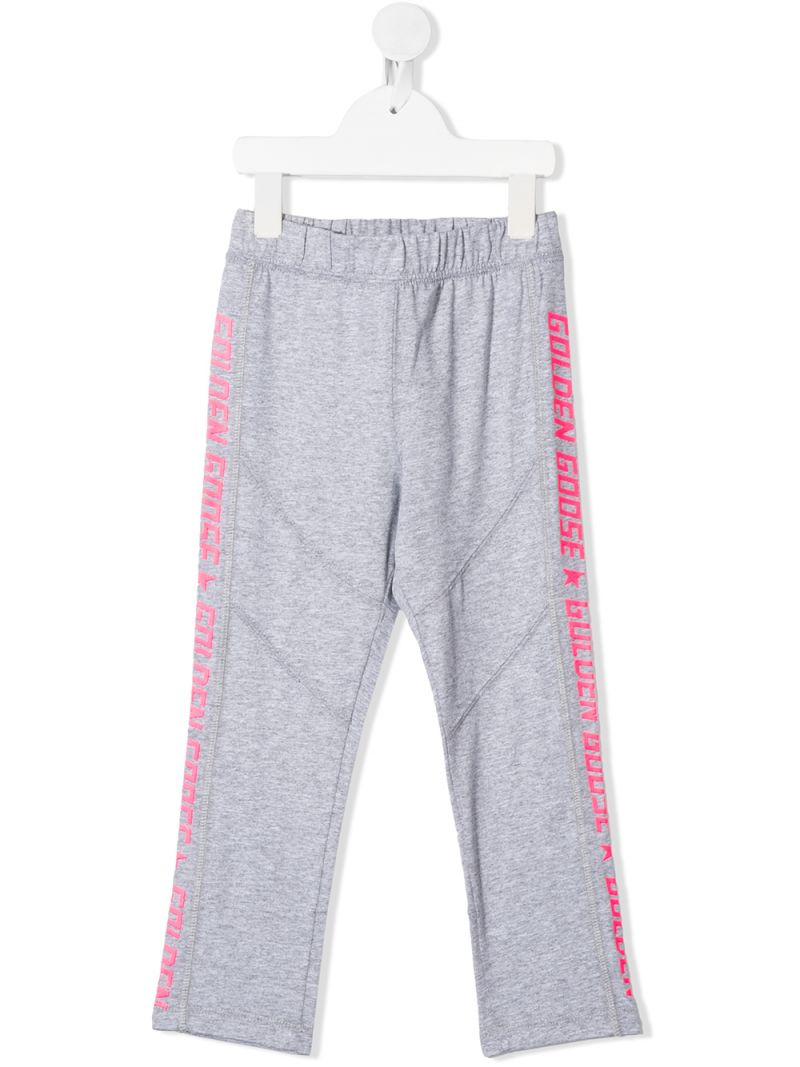 GOLDEN GOOSE DELUXE BRAND KIDS: Pimrose cotton joggers Color Grey_1