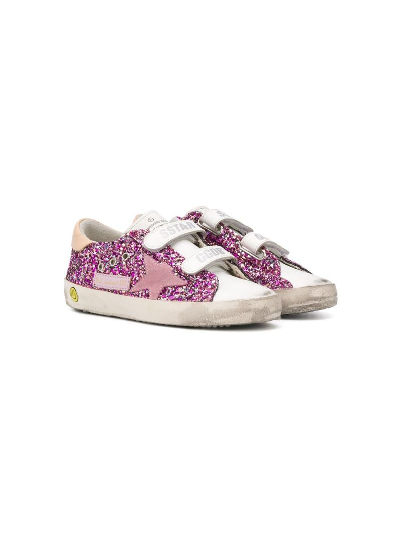 GOLDEN GOOSE DELUXE BRAND KIDS: Old School glitter sneakers Color Multicolor_1