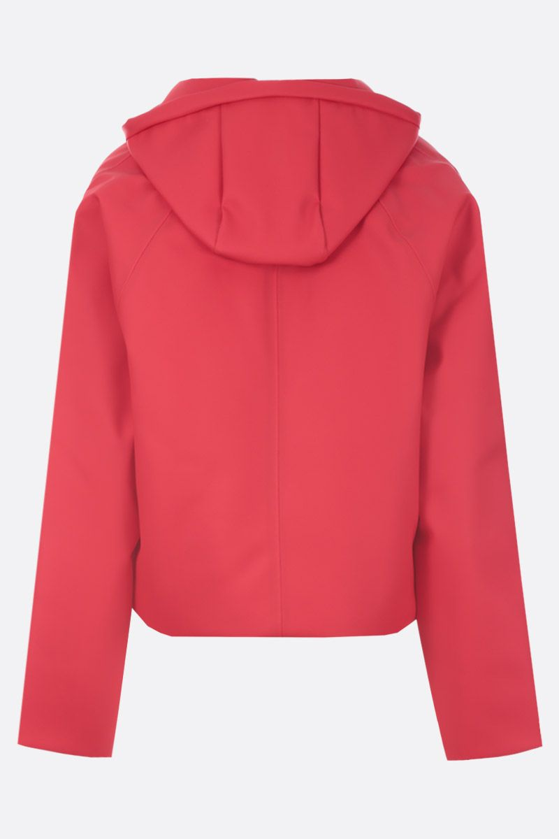 KASSL EDITIONS: crop padded jacket in coated canvas Color Red_3