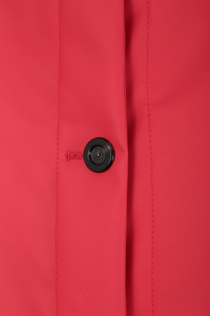 KASSL EDITIONS: crop padded jacket in coated canvas Color Red_4