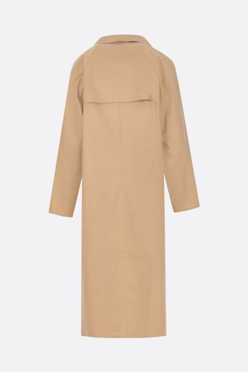 KASSL EDITIONS: technical cotton single-breasted trench coat Color Neutral_2