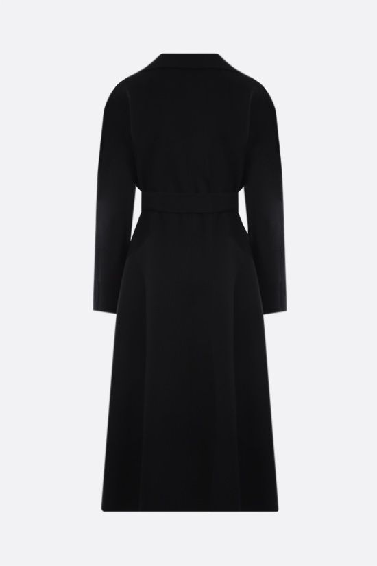 'S MAX MARA: Elisa wool wrap coat Color Black_2
